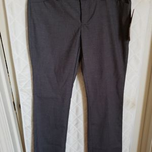 "Bootcut, 40"" long grey pants.  NWT, front and back"
